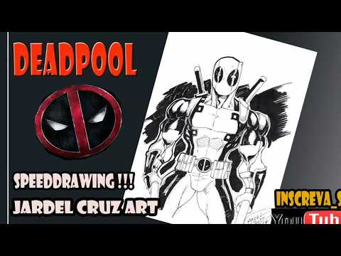 DEADPOOL speed drawing(Jardel Cruz arts)
