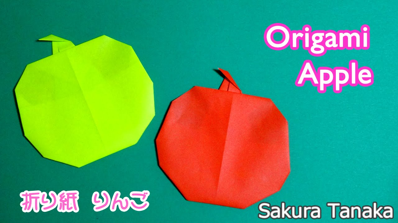 origami apple easy ��� �� ��� youtube