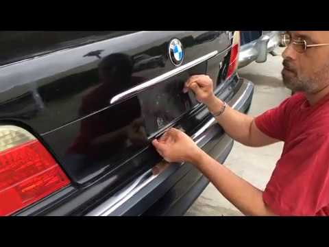 BMW 7 series emergency trunk release trick - NO KEY, NO POWER, DOORS