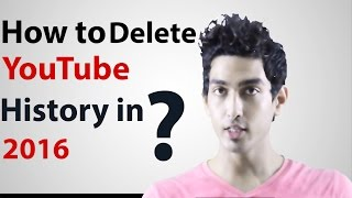 how to delete youtube history in 2016