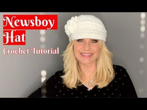 50cc949bedd 💖 Newsboy Hat 💖 Crochet Tutorial - YouTube