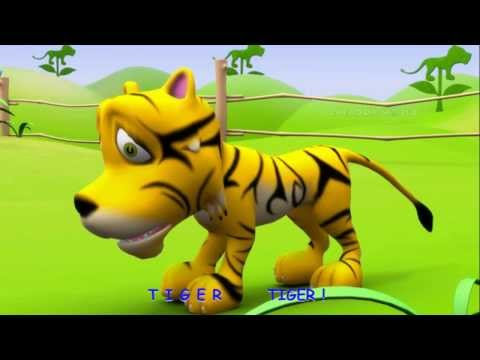 Tiger rhymes | Alphabet Song 3d nursery rhymes for kids | T for tiger song
