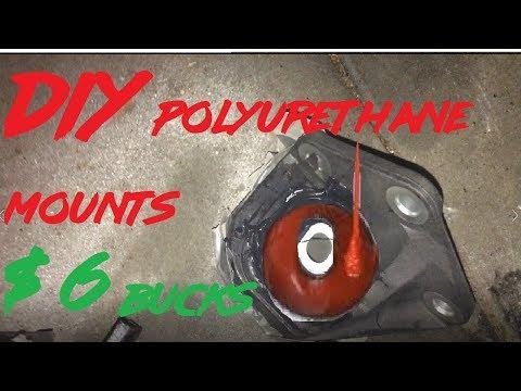$6 BUCKS  DIY Polyurethane Engine Mounts\ Bushings/ how to repair broken engine mounts