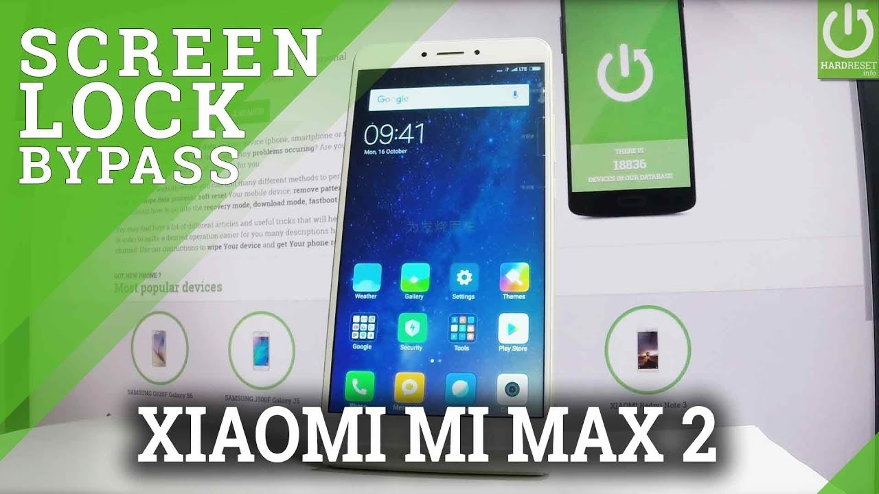 Bypass Screen Lock XIAOMI Mi Max 2 - Hard Reset / Wipe Out XIAOMI