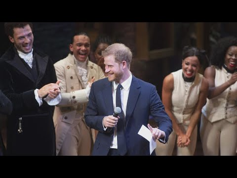 Prince Harry Sings at 'Hamilton' Charity Event Appearance With Meghan Markle