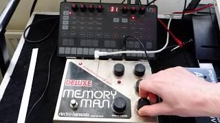 IK Multimedia Uno & EHX Deluxe Memory Man