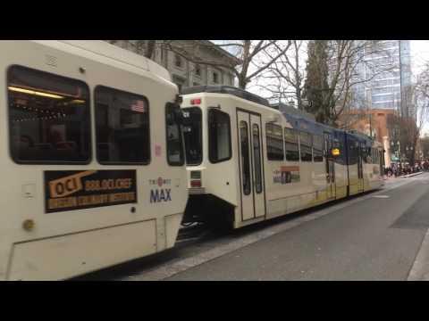 HD compilation Tri-Met MAX Portland Light Rail  - MAX Light Rail Service in Portland Oregon  (03535)