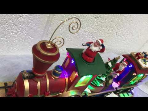 Christmas Santa's LIGHT UP MUSICAL Train  lights/Motion/Sound