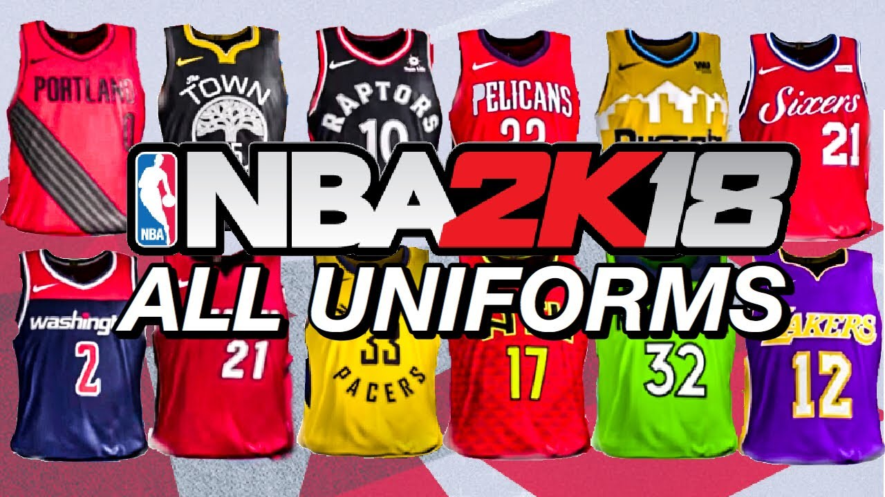All Uniforms - NBA 2K18 - YouTube