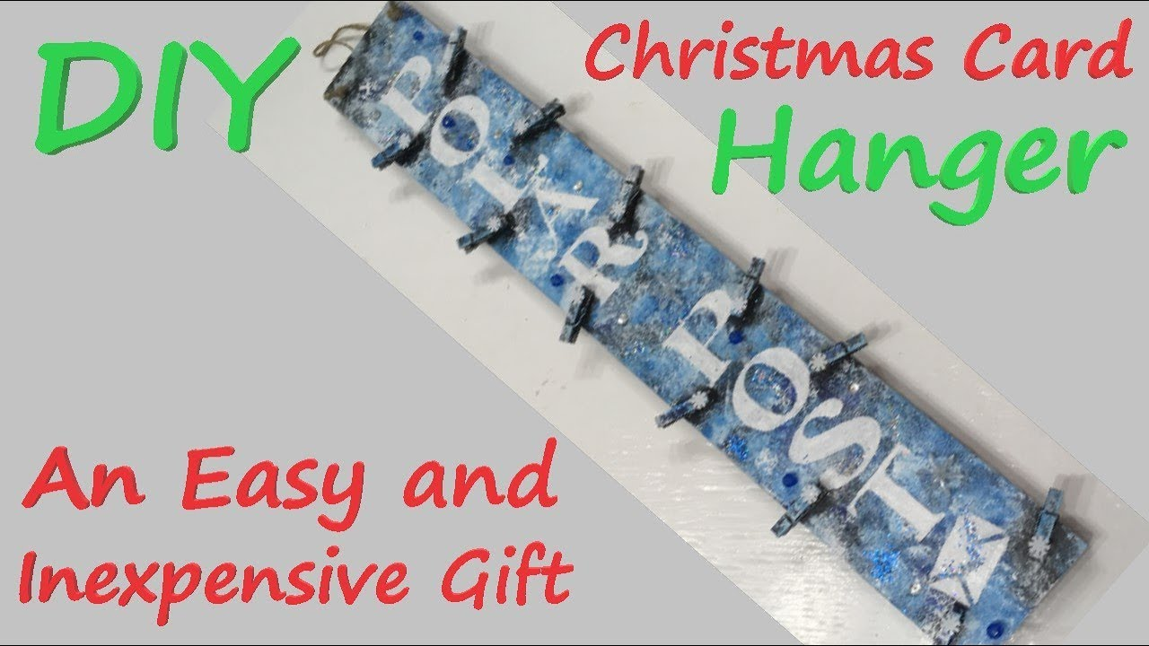 DIY Christmas Card Hanger - An Easy and Inexpensive Gift - YouTube