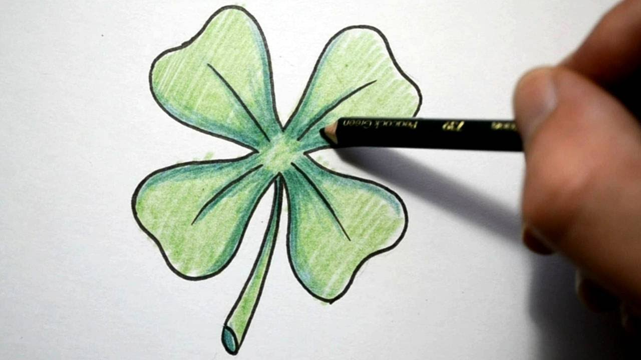 3d Water Drop Wallpaper How To Draw A Four Leaf Clover Youtube