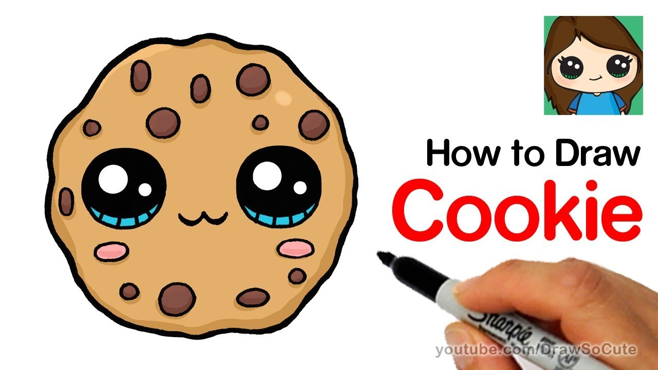 How To Draw Cookie Swirl C Logo Easy Youtube