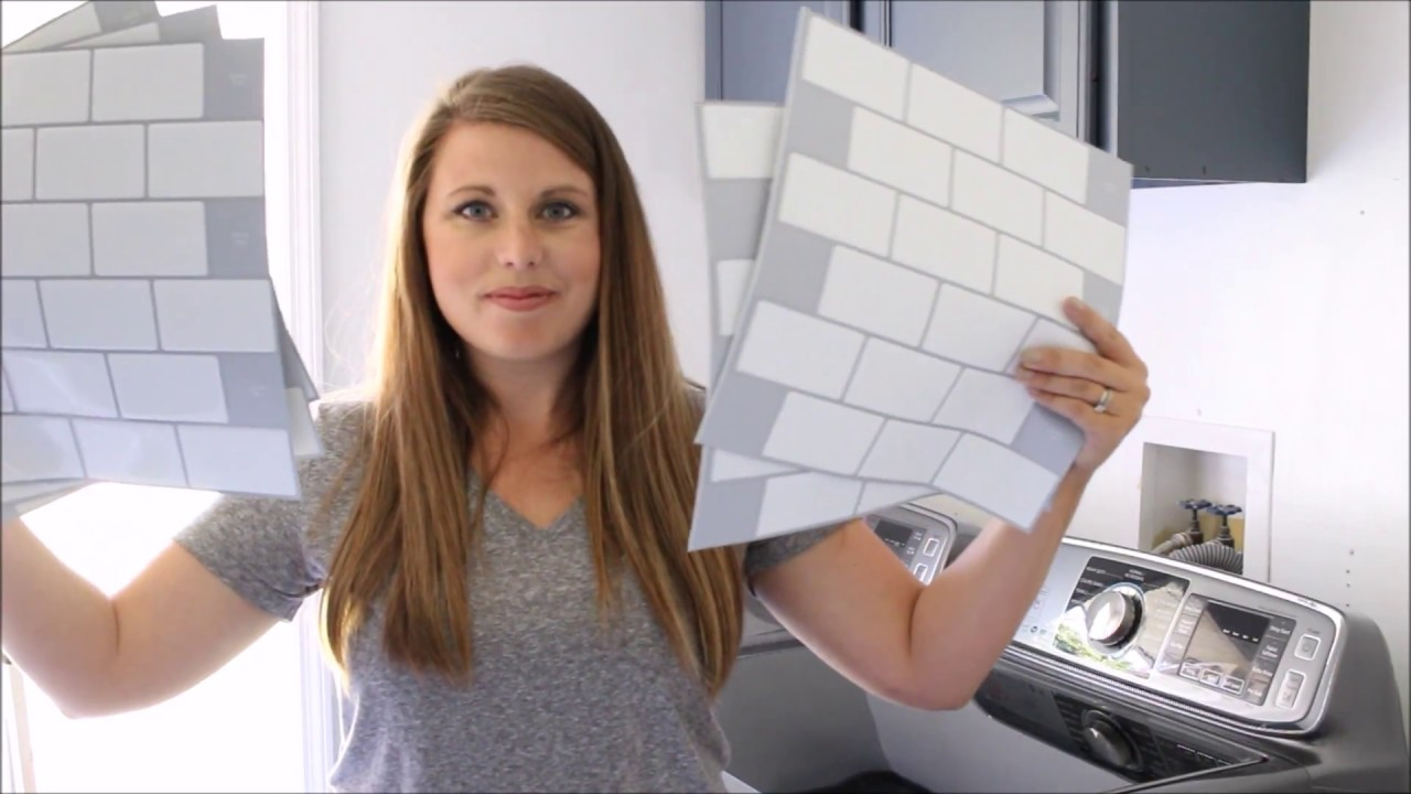 Installing Tic Tac Tiles In Our Laundry Room The How To