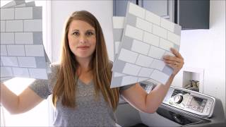 Installing Tic Tac Tiles in our Laundry Room - The How To