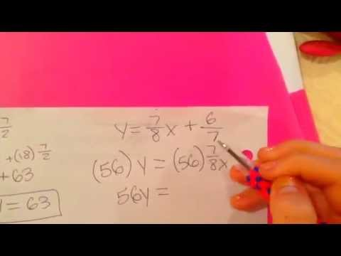 How To Solve Linear Equations In Standard Form Math Homework Youtube