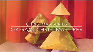 Origami Christmas Tree for Children (Level 2: Simple)