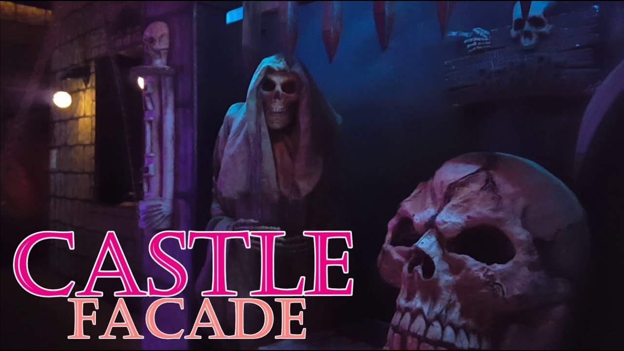 scary castle themed halloween yard haunt display - youtube