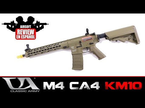 M4 CA4 KM10 Y KM12 CLASSIC ARMY Airsoft Review en Español ( Test Shot&Crono )
