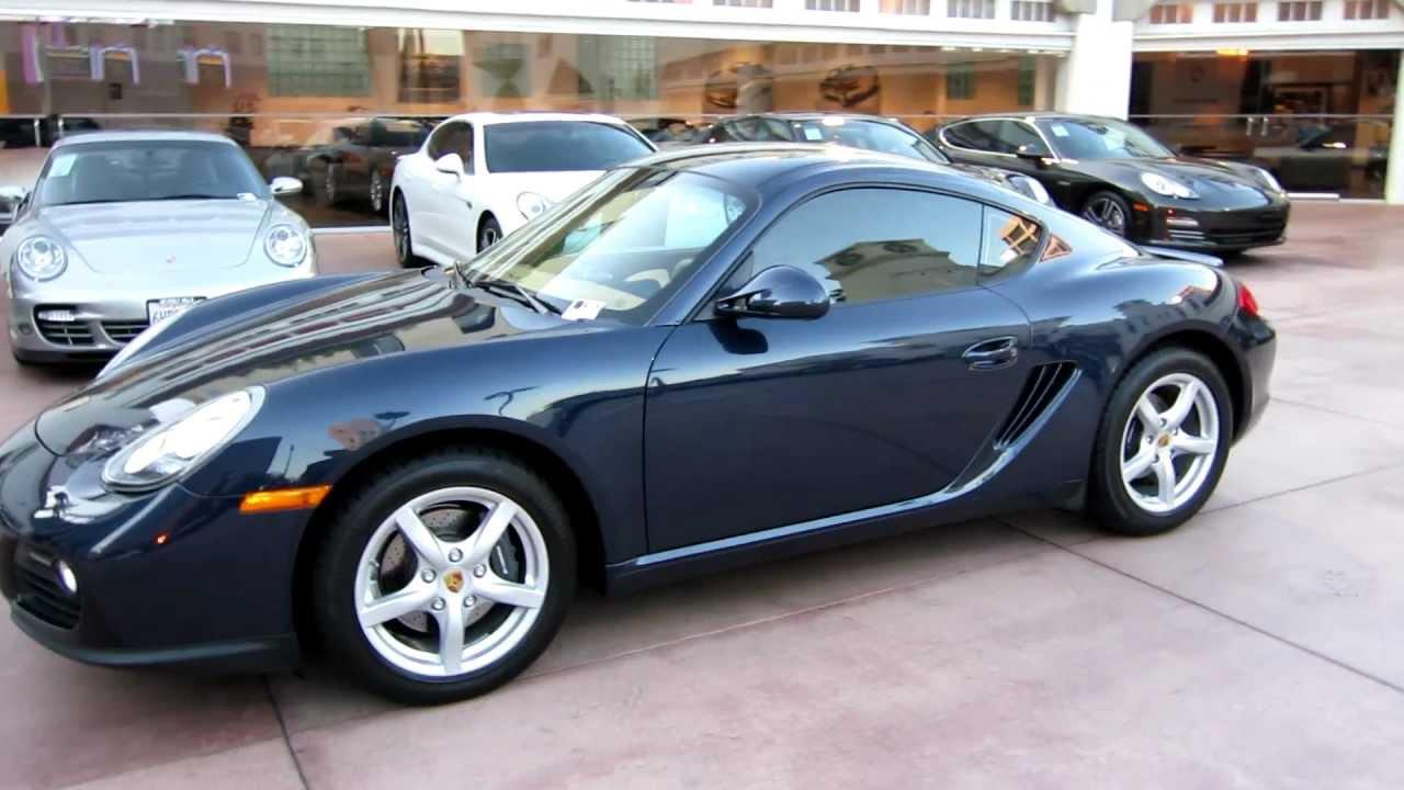 2010 Porsche Cayman PDK Dark Blue Metallic Sand Beige interior 15k
