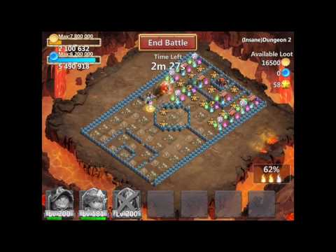 Castle Clash Insane  2-1 // 3 FLAMES WITH ONLY 3 HEROES