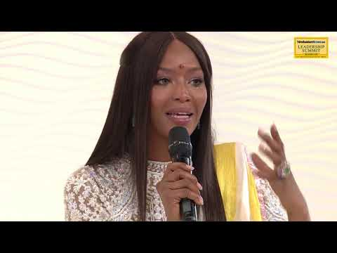 HT Leadership Summit 2017 || Naomi Campbell talks about connecting to yoga