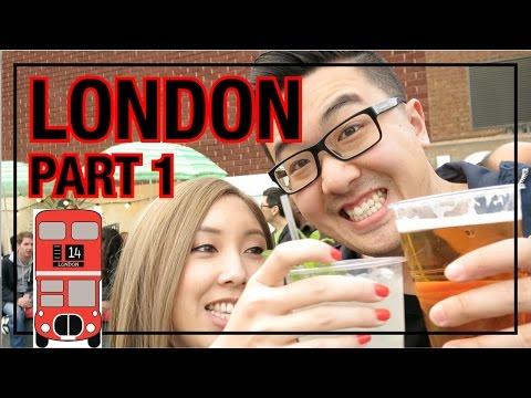 LONDON TRAVEL VLOG - Part 1   Best Food Market EVER