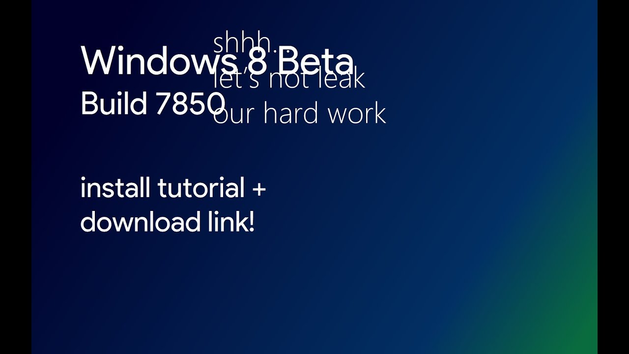 Windows 8 beta [build 8056] (32-bit) – free operating systems for.