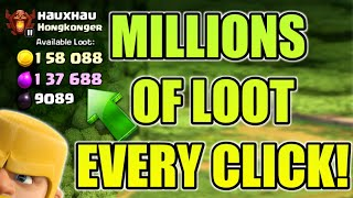 MILLIONS OF LOOT IN EVERY CLICK! EVERY TOWNHALL,100% WORKING TRICK! CLASH OF CLANS Future T18
