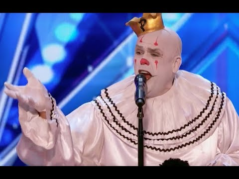 Sad Shy Clown With His Mind Blowing Versi of Sias Chandelier  Week 1  Americas Got Talent 20