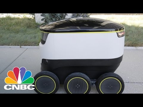 PostMates And Starship Technologes Team Up For Robotic Deliveries In Silicon Valley | CNBC