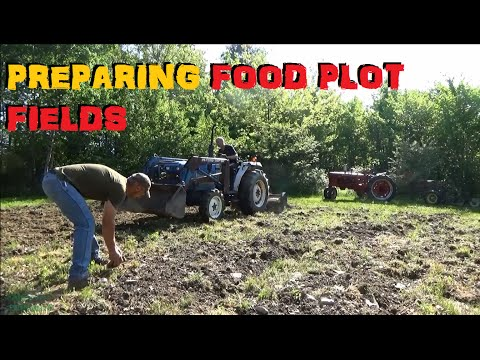 Preparing The Food Plots - Tilling