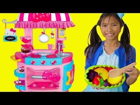 Wendy Pretend Play w/ Hello Kitty Kitchen &Tea Party Kids Food Toys