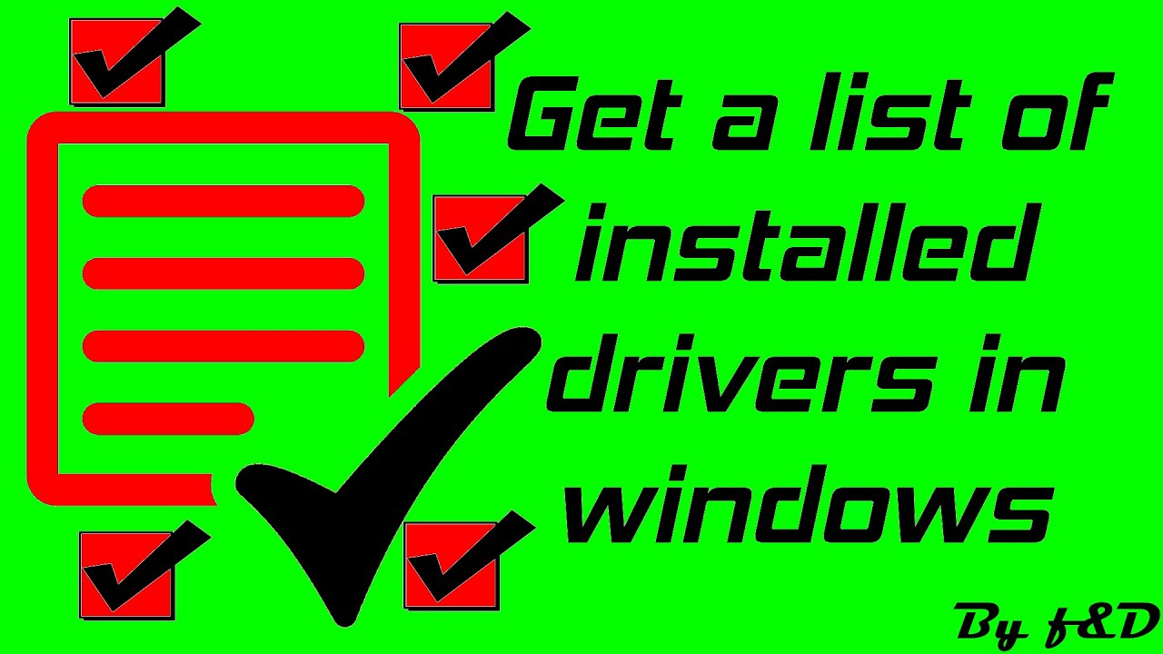 How to get a list of installed drivers in windows with command prompt