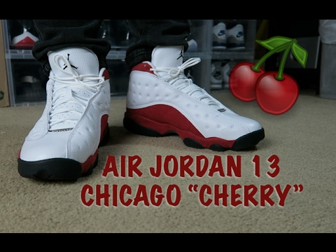 separation shoes d2ae1 e9e9e ... inexpensive 2017 air jordan 13 chicago cherry early look on feet 4aaf9  3f4aa ...