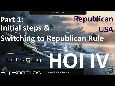 HOI4 Republican USA - Part 1 (redo) - initial steps and switching to republican rule