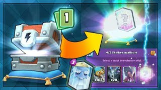 RAREST NEW LEGENDARY PULL FROM UPDATE CHEST!! | Clash Royale | RARE LIGHTNING CHEST LEGENDARY!
