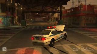 GTA IV pc 9600GT HD video - police chase