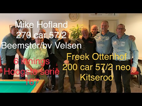Freek Ottenhof Vs Mike Hofland Kitseroo VS Beemster/bv Velsen 57/2 38/2