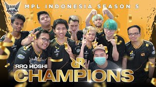 RRQ HOSHI THE CURSE BREAKER | CHAMPION OF MPL INDONESIA SEASON 5