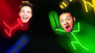 Wir BEKRIEGEN uns bis einer STIRBT! | Stick Fight: The Game