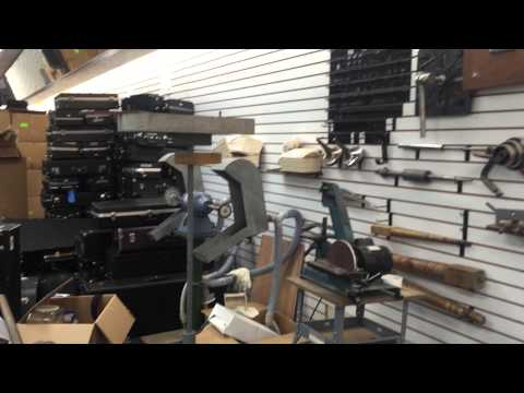 Band instrument repair shops tour #2a shop 2 of Chuck Levin's