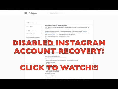 Instagram Disabled Account Recovery | Direct link in Bio | MarQuis