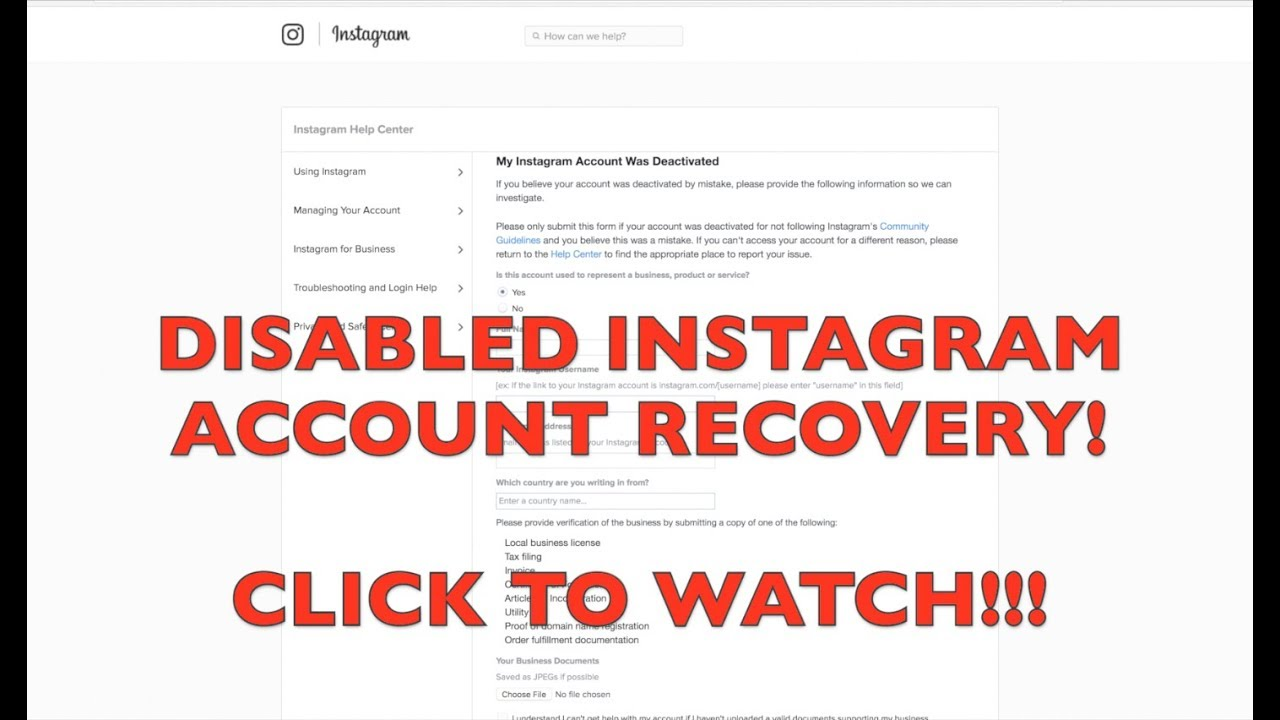 Instagram Disabled Account Recovery | Direct link in Bio | MarQuis Trill