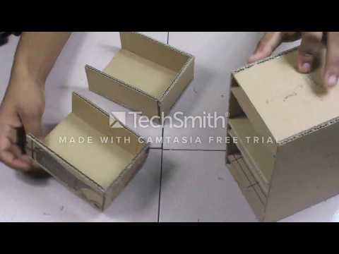 How To Make A Simple Cardboard Drawer Box At Home