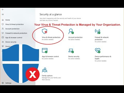 Your Virus & Threat Protection is Managed by your Organization Solve this Problem by, Amjad GD