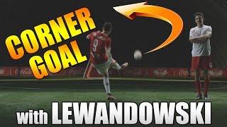 Corner goal with robert lewandowski | tutorial