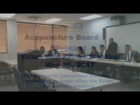 Acupuncture Board of California Meeting - May 26, 2017