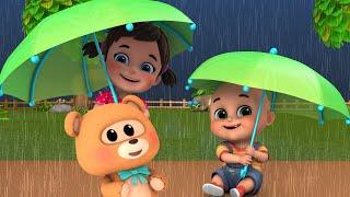 Rain, Rain Go Away | Baby playing at home | +More Nursery Rhymes & Kids Rhymes - Jugnu Kids