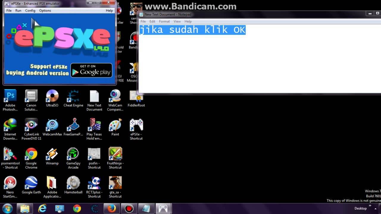 cara configure dan cara menghilangkan black screen di epsxe 1 9 0