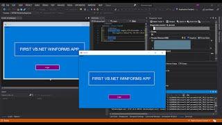 VB.Net WinForms App In Visual Studio 2019 (Getting Started)